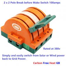 Double Pole Break before Make Switch